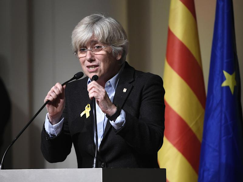 Clara Ponsati, who faces arrest if she returns to Spain, said: 'We are under the threat of having hostages being used for political blackmail': AFP/Getty