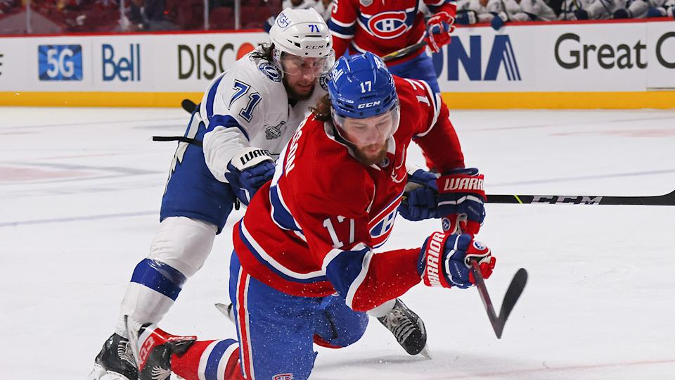 Josh Anderson (17) and the Canadiens have had their ups and downs this year. (Photo by Bruce Bennett/Getty Images)