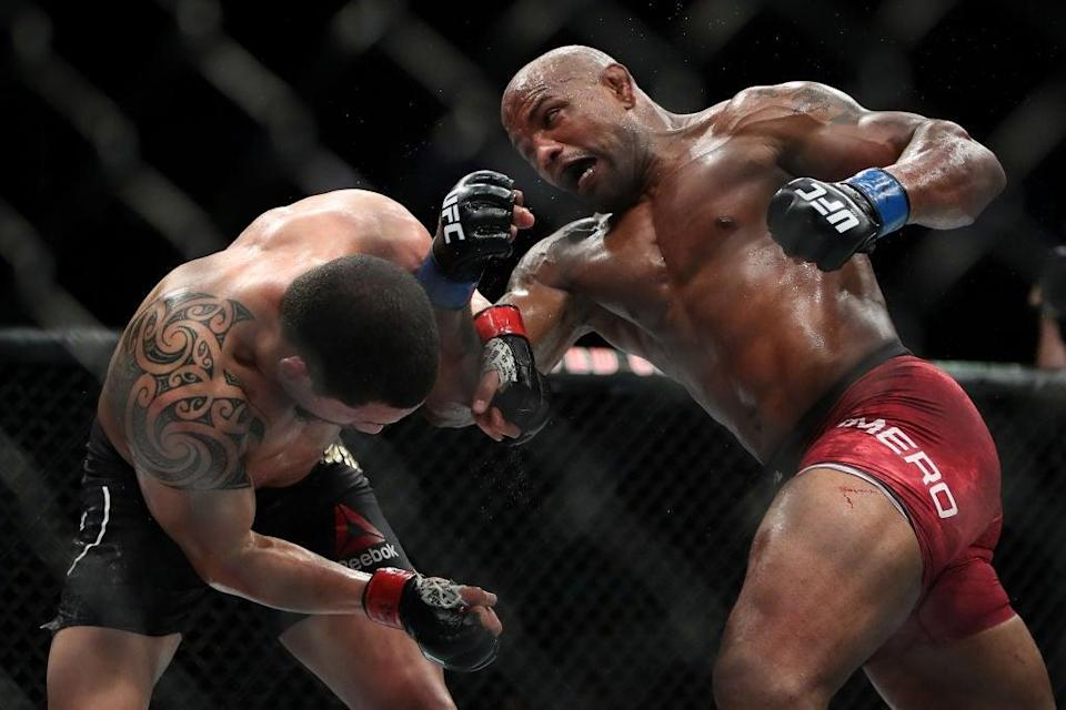 Yoel Romero (right) came close to signing a deal for a fight against Paul (Getty Images)