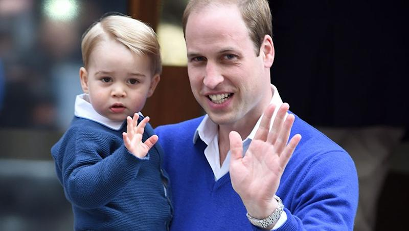 William with his own son, Prince George. Source: Getty