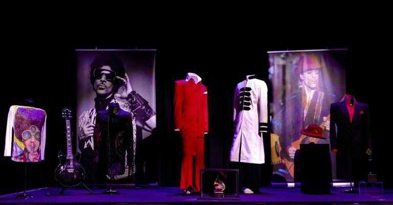 Prince's costumes and his guitar are on display at Paisley Park