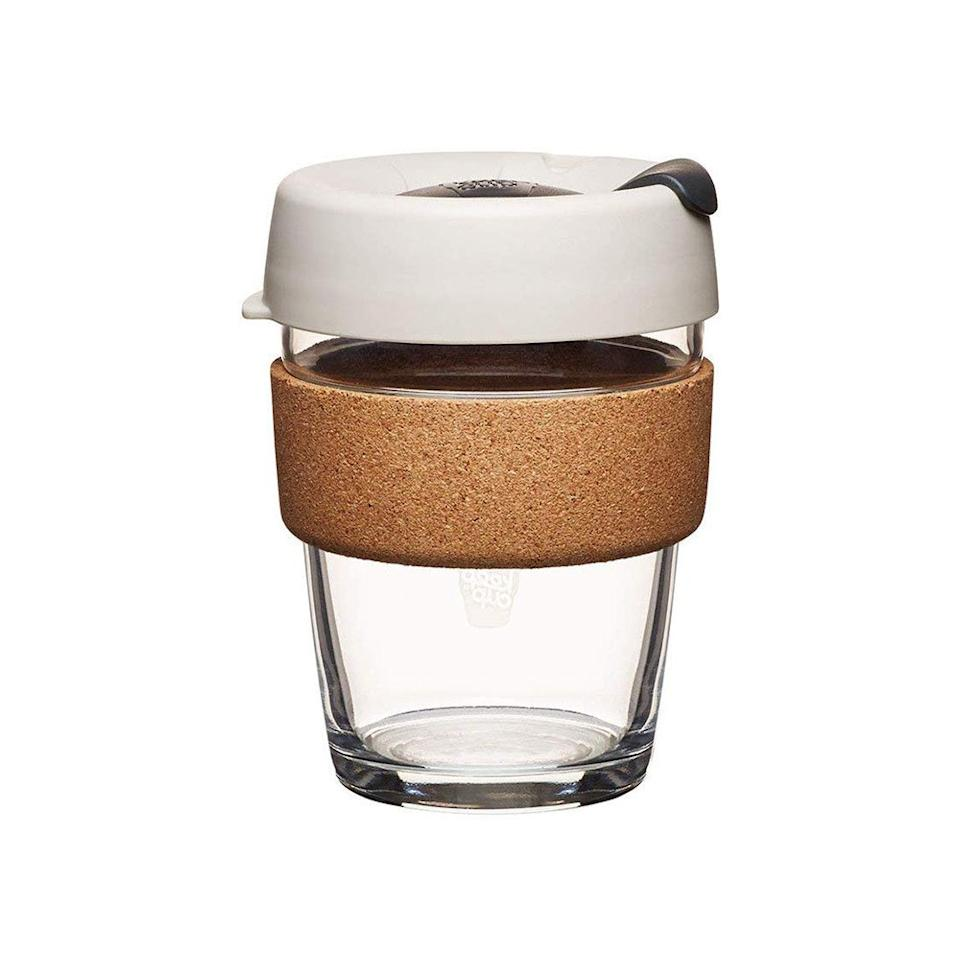 "<p>Not only are these Keep Cups beloved by baristas and <a href=""https://www.bonappetit.com/story/keep-cup-best-office-mug?mbid=synd_yahoo_rss""><em>Bon Appétit</em> staffers</a>, but they're also ideal travel mugs for coffee snobs who want to cut down on their plastic and cardboard consumption. The cork panel on them prevents any second-degree coffee burns, and the cups are also easy to clean.</p> <p><strong>Buy it:</strong> $28, <a href=""https://www.amazon.com/KeepCup-Reusable-Toughened-Natural-12-Ounce/dp/B00PC9UZY0/ref=cts_ap_1_vtp"" rel=""nofollow"">amazon.com</a></p>"
