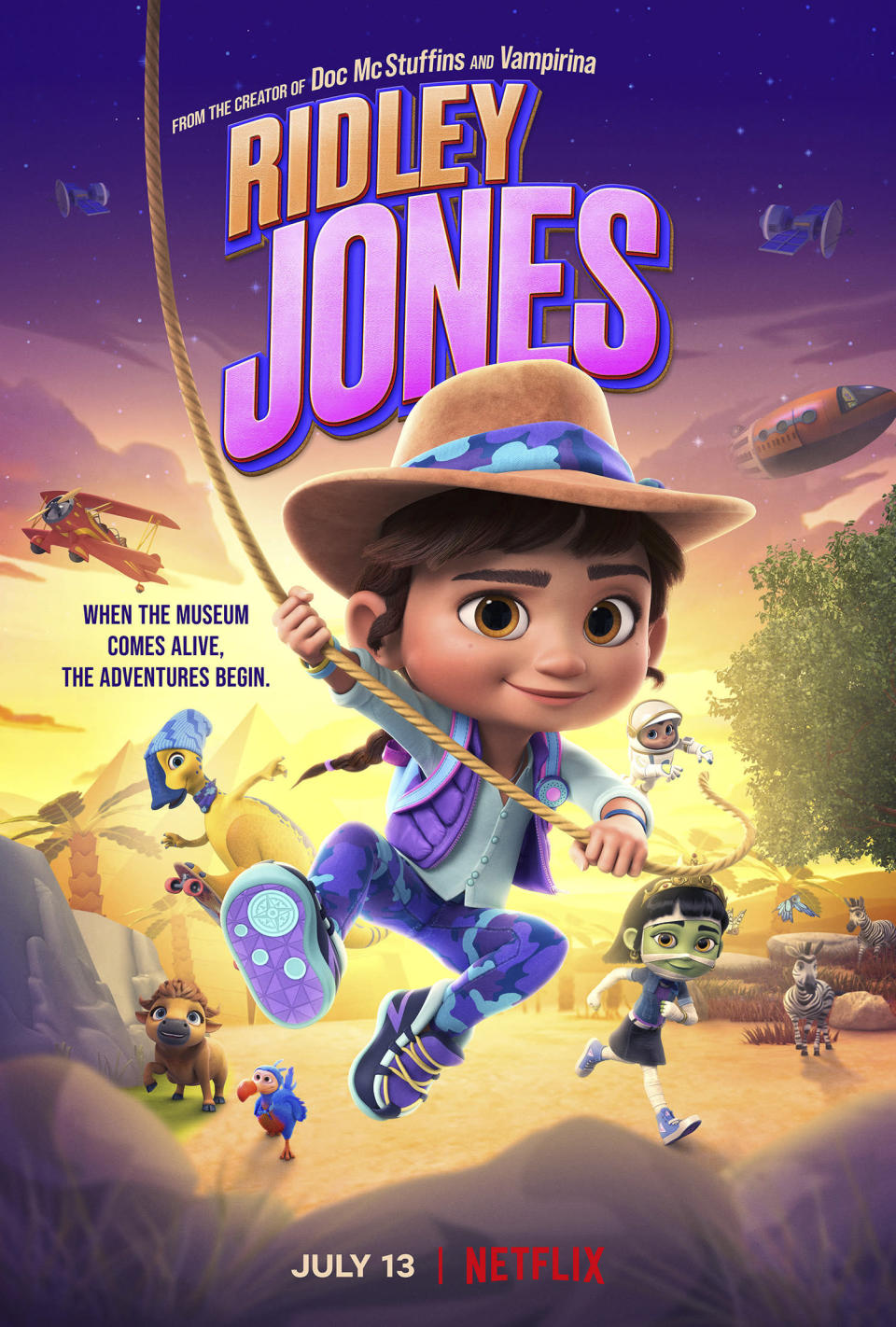 """This image proved by Netflix shows promotional art for the children's animated series """"Ridley Jones."""" (Netflix via AP)"""