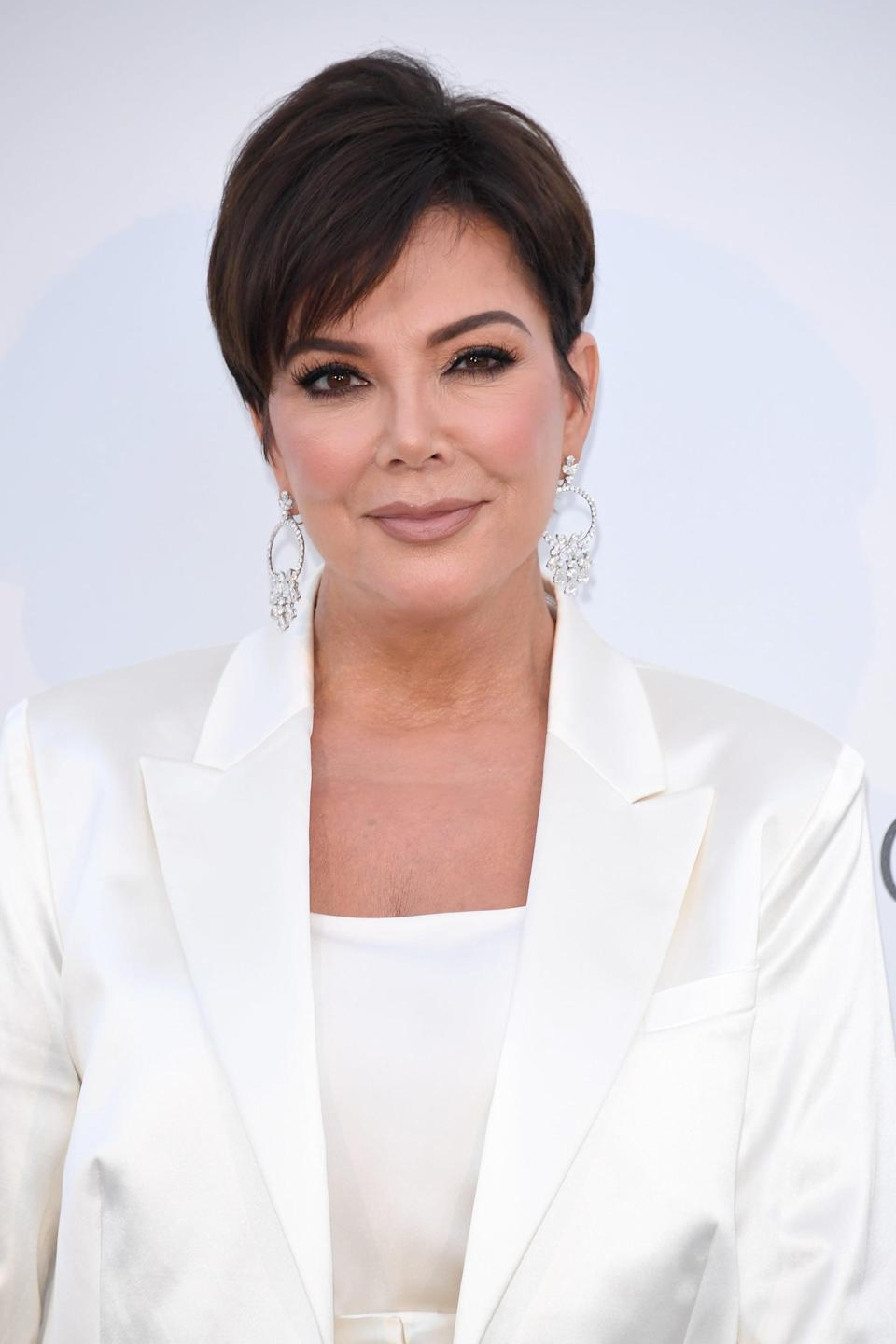 """<p>The matriarch of the Kardashian-Jenner clan may be joining the beauty game with her own skincare line. In February 2021, <a href=""""https://www.popsugar.com/beauty/kris-jenner-beauty-brand-trademark-48178699"""" class=""""link rapid-noclick-resp"""" rel=""""nofollow noopener"""" target=""""_blank"""" data-ylk=""""slk:Jenner Communications reportedly applied for various trademarks"""">Jenner Communications reportedly applied for various trademarks</a>, and search results via the United States Patent and Trademark Office currently show pending trademarks for <a href=""""https://uspto.report/TM/90523713"""" class=""""link rapid-noclick-resp"""" rel=""""nofollow noopener"""" target=""""_blank"""" data-ylk=""""slk:Kris Jenner Beauty"""">Kris Jenner Beauty</a>, <a href=""""https://uspto.report/TM/90523798"""" class=""""link rapid-noclick-resp"""" rel=""""nofollow noopener"""" target=""""_blank"""" data-ylk=""""slk:Kris Jenner Skin"""">Kris Jenner Skin</a>, and <a href=""""https://uspto.report/TM/90523893"""" class=""""link rapid-noclick-resp"""" rel=""""nofollow noopener"""" target=""""_blank"""" data-ylk=""""slk:Kris Jenner Skincare"""">Kris Jenner Skincare</a>. However, Kris has yet to confirm the rumors herself, so fans will have to wait and see if this potential endeavor pans out. </p>"""