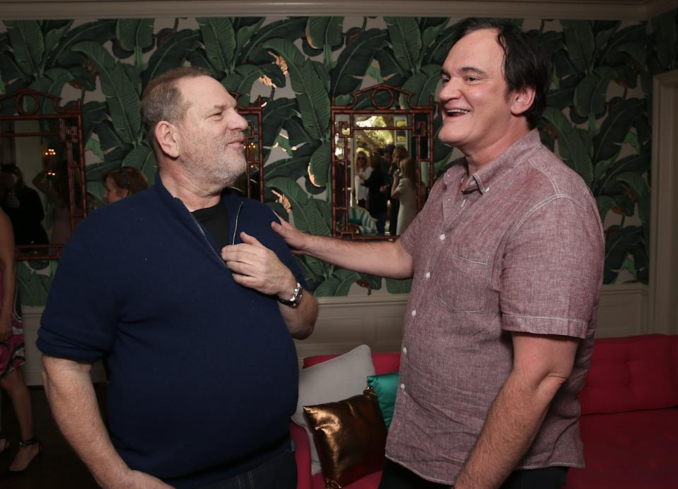 HOLLYWOOD, CA - FEBRUARY 26:  Harvey Weinstein and Quentin Tarantino attend The Weinstein Company's Celebratory Lunch For Ennio Morricone Hosted At The Private Residence Of Jonas Tahlin, CEO Absolut Elyx at Hollywood Walk Of Fame on February 26, 2016 in Hollywood, California.  (Photo by Todd Williamson/Getty Images for The Weinstein Company)