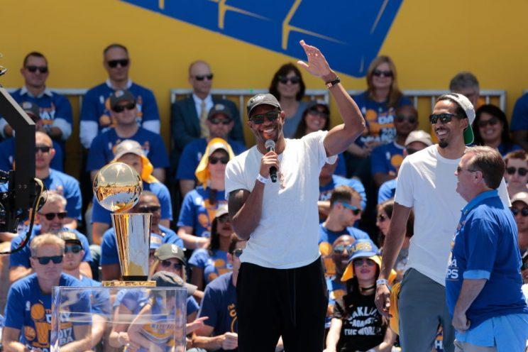 Andre Iguodala leaving the Bay Area would be a boon for the league. (Getty Images)