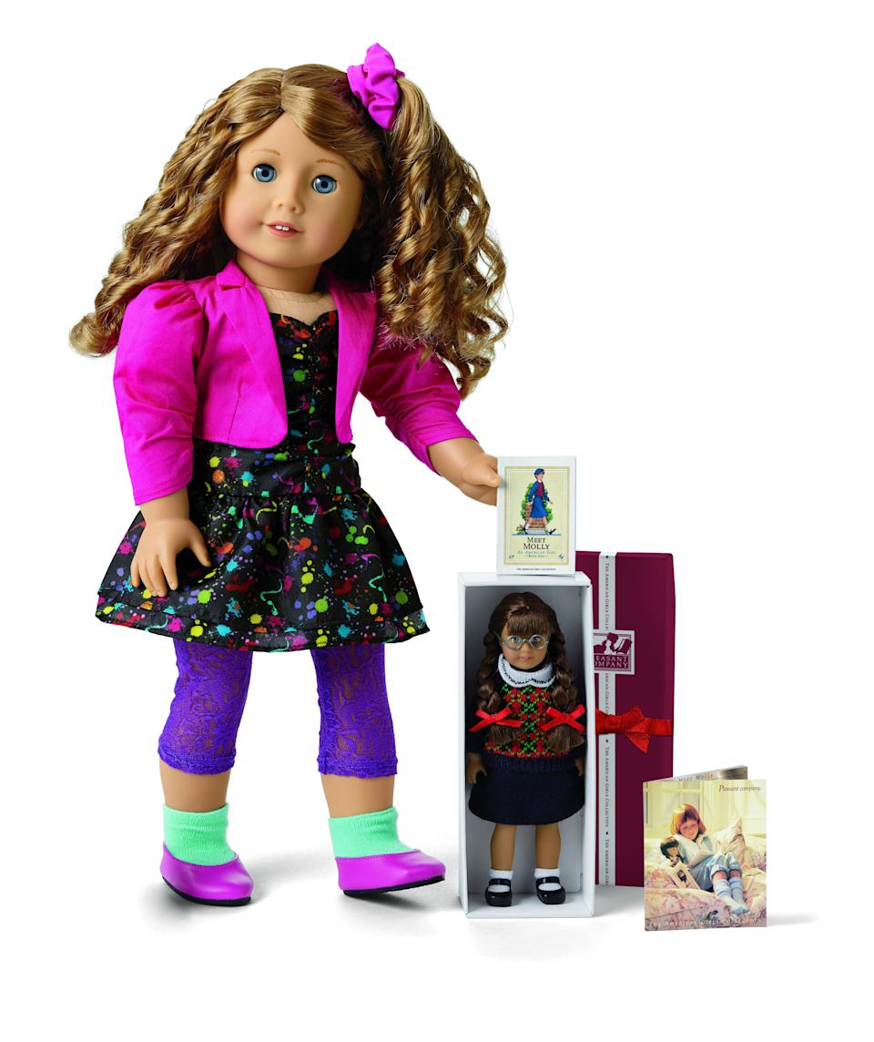 Courtney has her own mini version of the Molly American Girl doll.  (Photo: American Girl)