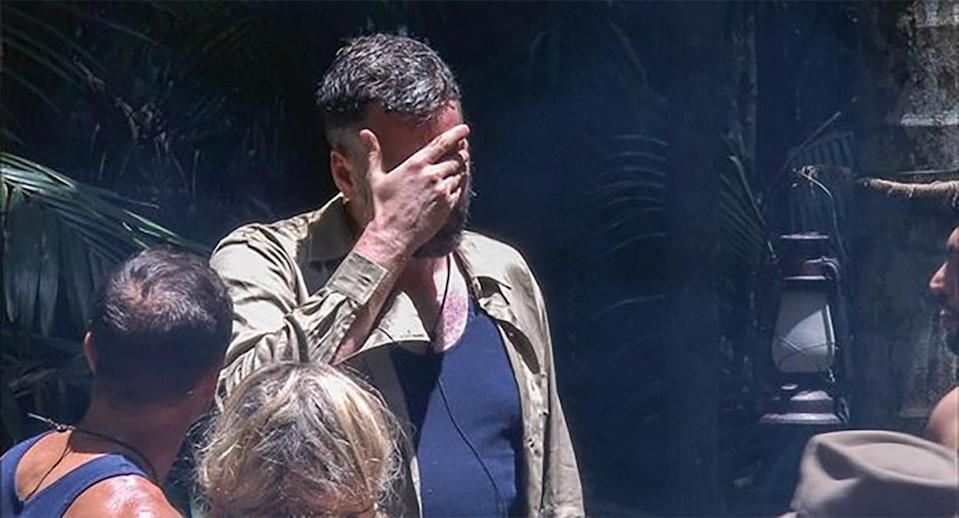 Iain broke down after failing a trial. Copyright: [ITV]