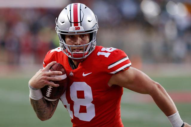Tate Martell will be eligible to play in 2019 after transferring to Miami from Ohio State. (AP Photo/Jay LaPrete, File)