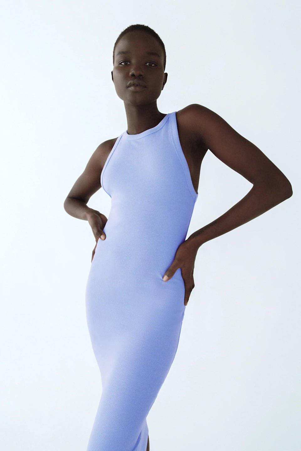 <p>This <span>Zara Ribbed Dress</span> ($18) turns any casual look into a sexy affair.</p>