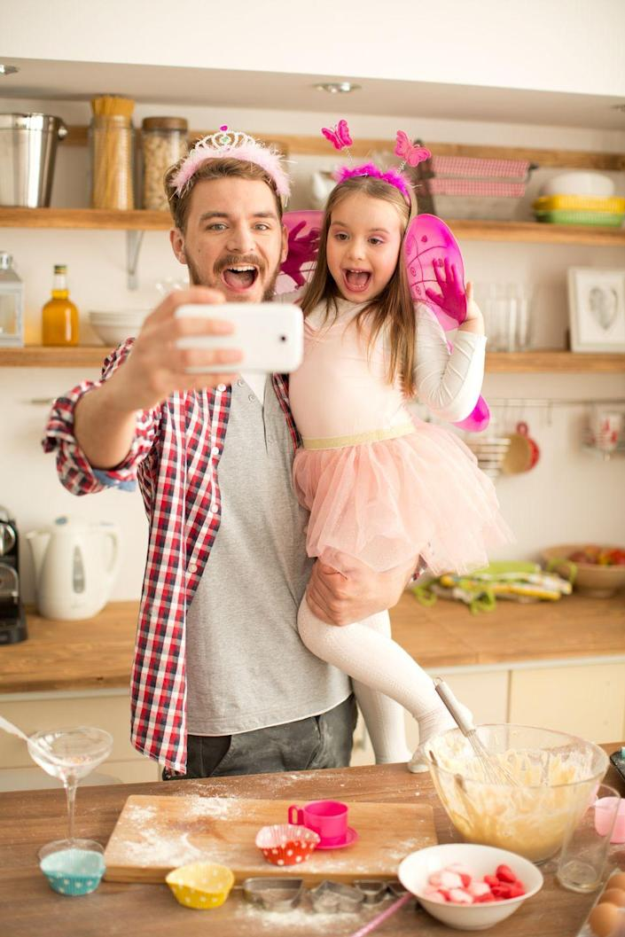 """<p>Wearing goofy crowns or laugh-out-loud ensembles, spend Father's Day dressing up and taking funny selfies.</p><p><a class=""""link rapid-noclick-resp"""" href=""""https://go.redirectingat.com?id=74968X1596630&url=https%3A%2F%2Fwww.walmart.com%2Fip%2FButterfly-Headband-1-Pc-Apparel-Accessories-1-Piece%2F164293674&sref=https%3A%2F%2Fwww.thepioneerwoman.com%2Fholidays-celebrations%2Fg36333267%2Ffathers-day-activities%2F"""" rel=""""nofollow noopener"""" target=""""_blank"""" data-ylk=""""slk:SHOP HEADBANDS"""">SHOP HEADBANDS</a></p>"""