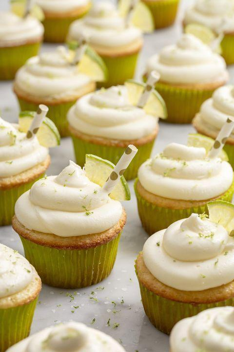 """<p>Everything's better in cupcake form!</p><p>Get the recipe from <a href=""""https://www.delish.com/cooking/recipe-ideas/recipes/a52601/margarita-cupcakes-recipe/"""" rel=""""nofollow noopener"""" target=""""_blank"""" data-ylk=""""slk:Delish"""" class=""""link rapid-noclick-resp"""">Delish</a>.</p>"""