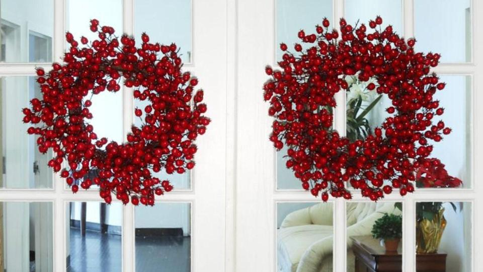 These wreaths are on sale for Black Friday, and provide the perfect way to dress up your home for the holidays.