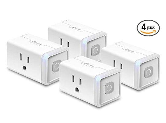 "Get this <a href=""https://amzn.to/31aesfm"" target=""_blank"" rel=""noopener noreferrer"">Kasa Smart Plug by TP-Link 4-Pack on sale for $27</a> (normally $50) at Amazon."