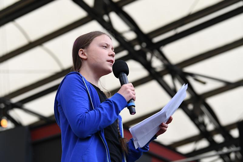 Greta Thunberg addressed crowds in Sweden (AFP/Getty Images)