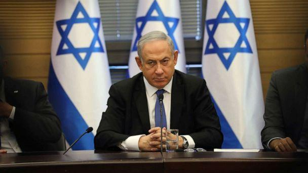 PHOTO: Israeli Prime Minister Benjamin Netanyahu speaks during an extended faction meeting of the right-wing bloc members at the Knesset, in Jerusalem, Nov. 20, 2019. (Oded Balilty/AP, FILE)