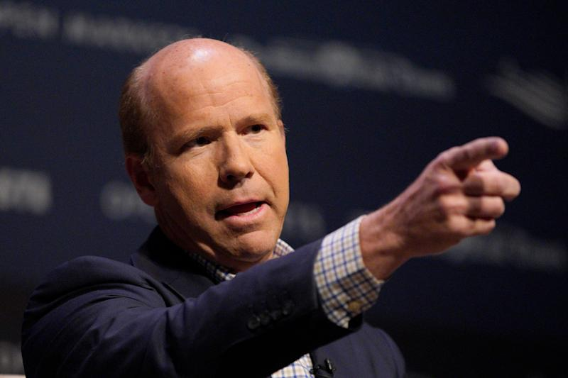 Democratic presidential candidate and former Rep. John Delaney, D-Md., speaks at the Heartland Forum held on the campus of Buena Vista University in Storm Lake, Iowa, Saturday, March 30, 2019. (AP Photo/Nati Harnik)