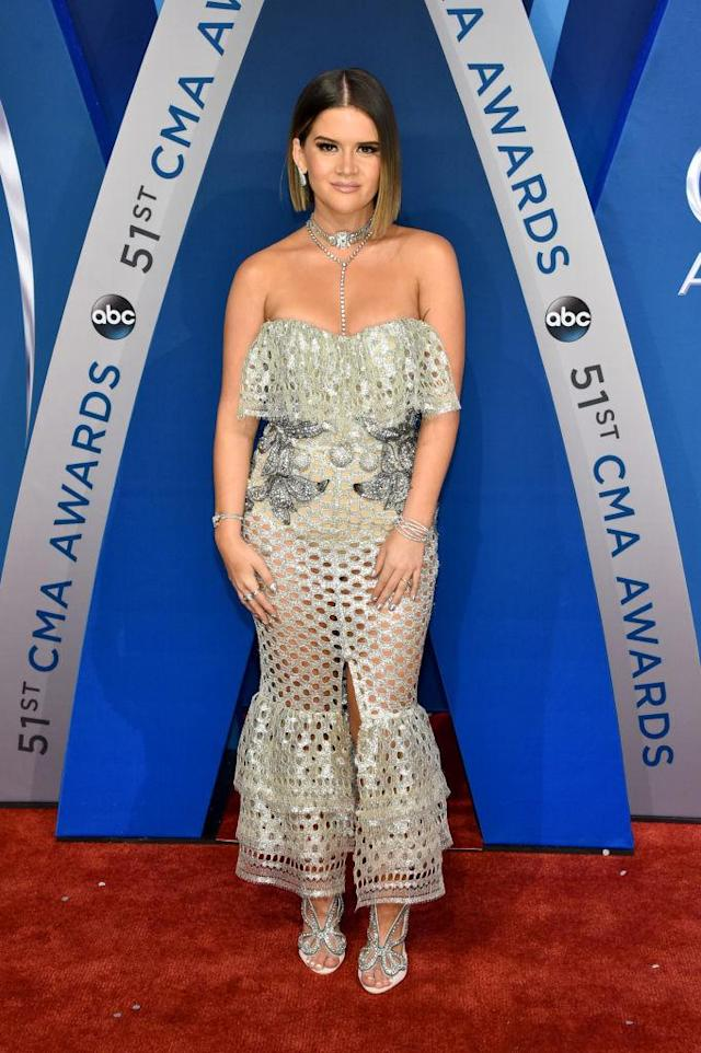 """<p>The singer described her look on the Morning Breath as """"New Year's Eve Barbie."""" (Photo: Getty Images) </p>"""