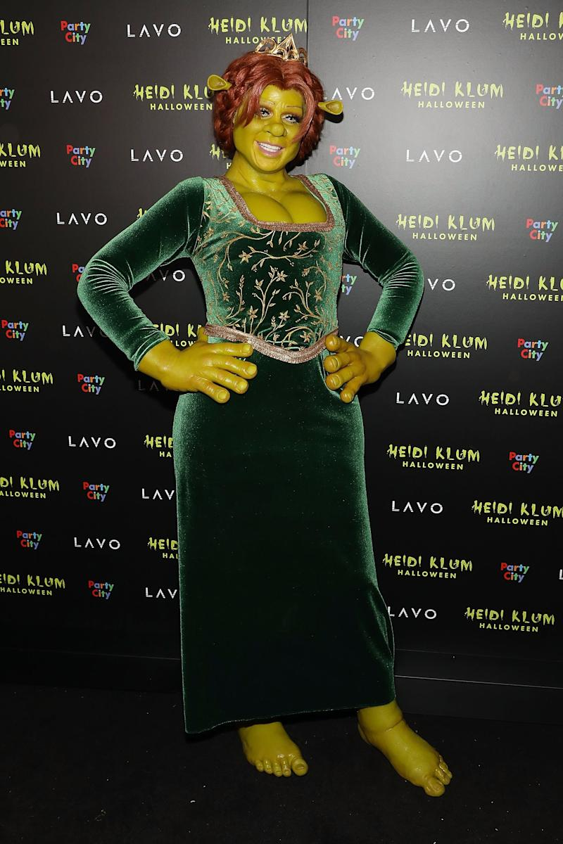 Heidi Klum attends Heidi Klum's 19th Annual Halloween Party at Lavo as Fiona from Shrek on October 31, 2018 in New York City. Photo courtesy of Getty Images.