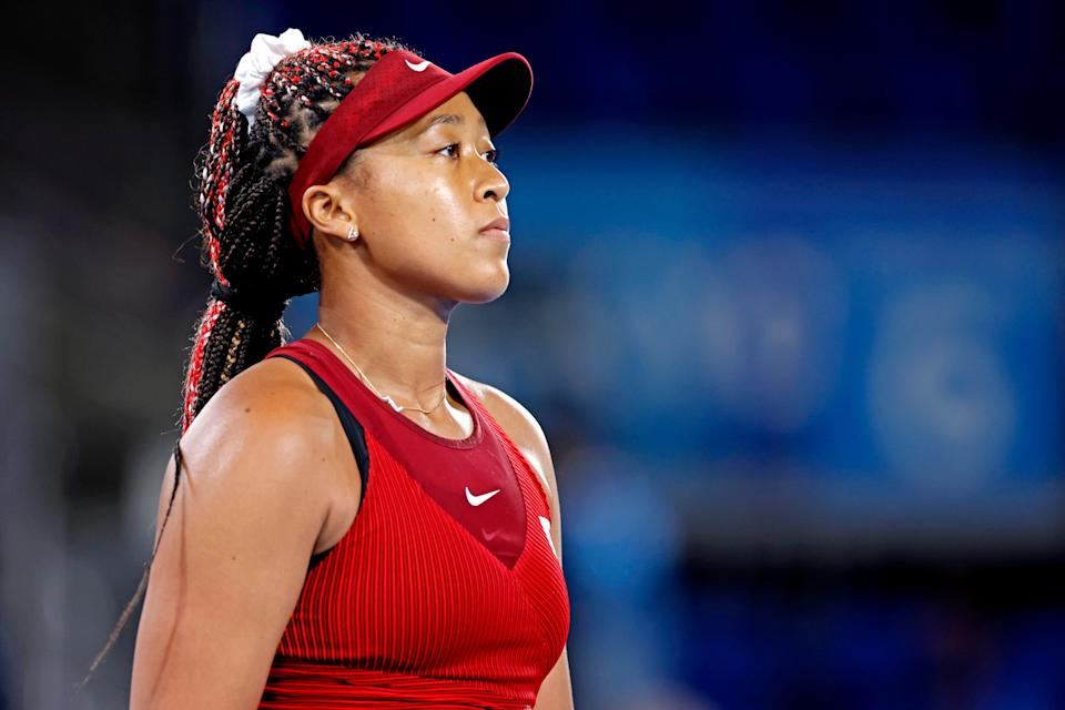 Naomi Osaka took part in her first news conference with reporters since May on Monday.