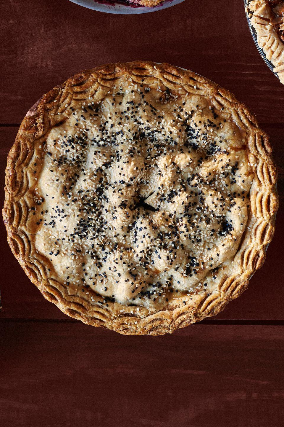 """<p>This unexpected flavor combo is so good, it will have your guests asking for seconds.</p><p><strong><a href=""""https://www.countryliving.com/food-drinks/recipes/a36553/pear-date-and-sesame-pie/"""" rel=""""nofollow noopener"""" target=""""_blank"""" data-ylk=""""slk:Get the recipe"""" class=""""link rapid-noclick-resp"""">Get the recipe</a>.</strong></p>"""