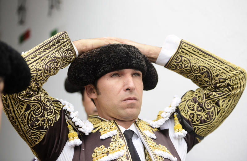 SANTANDER, SPAIN - JULY 26: Spanish bullfighter Cayetano Rivera looks on before a bullfight as part of the Feria Santiago in a bullfight at Coso de Cuatro Caminos on July 26, 2019 in Santander, Spain. (Photo by Juan Manuel Serrano Arce/Getty Images)