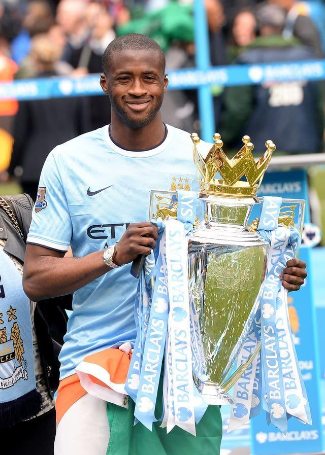 Yaya Toure was outstanding when City won the title again in 2014