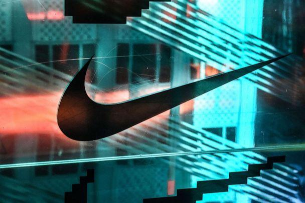 PHOTO: In this Dec. 20, 2019, file photo, a Nike logo is seen at the Nike flagship store in New York. (Stephanie Keith/Getty Images, FILE)