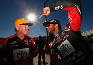 Jerry Baxter, left, and Bubba Wallace shown together in 2014 at Phoenix. They're reunited for 2020 with Baxter serving as Wallace's crew chief in the NASCAR Cup Series.(Getty Images)