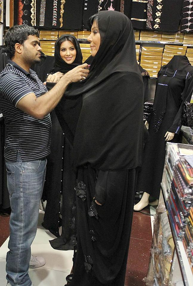 Another mother/daughter duo -- Kris Jenner and Kim Kardashian -- love shopping so much, they even hit up a burqa store during their visit to Dubai. The reality stars were in the Middle Eastern city to launch a Millions of Milkshakes shop at a mall on Thursday. Across the world, fellow reality star Paris Hilton attended the opening of a shopping in Poland the same day. Coincidence?   Brian Prahl/Splash News - October 14, 2011