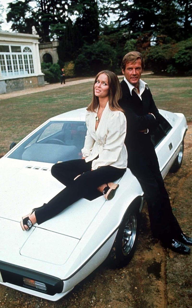 Barbara Bach and Roger Moore in 1976 - Credit:  Rex Features