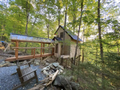 """<p><strong><a href=""""https://www.airbnb.com/rooms/32190915"""" rel=""""nofollow noopener"""" target=""""_blank"""" data-ylk=""""slk:Sugar Maple Treehouse:"""" class=""""link rapid-noclick-resp"""">Sugar Maple Treehouse:</a></strong><strong> Hancock, Vermont </strong></p><p>The Sugar Maple Treehouse is perched in three maple trees in the Green Mountain National Forest, and while you'll certainly feel disconnected, you'll also enjoy plenty of nice amenities. A short walk across a bridge and into the woods brings you to your treehouse, which features a composting toilet, a seasonal heated outdoor shower, insulation and electric heaters to stay cozy, and beautiful views of the forest all around you. And there's even still internet access! </p>"""