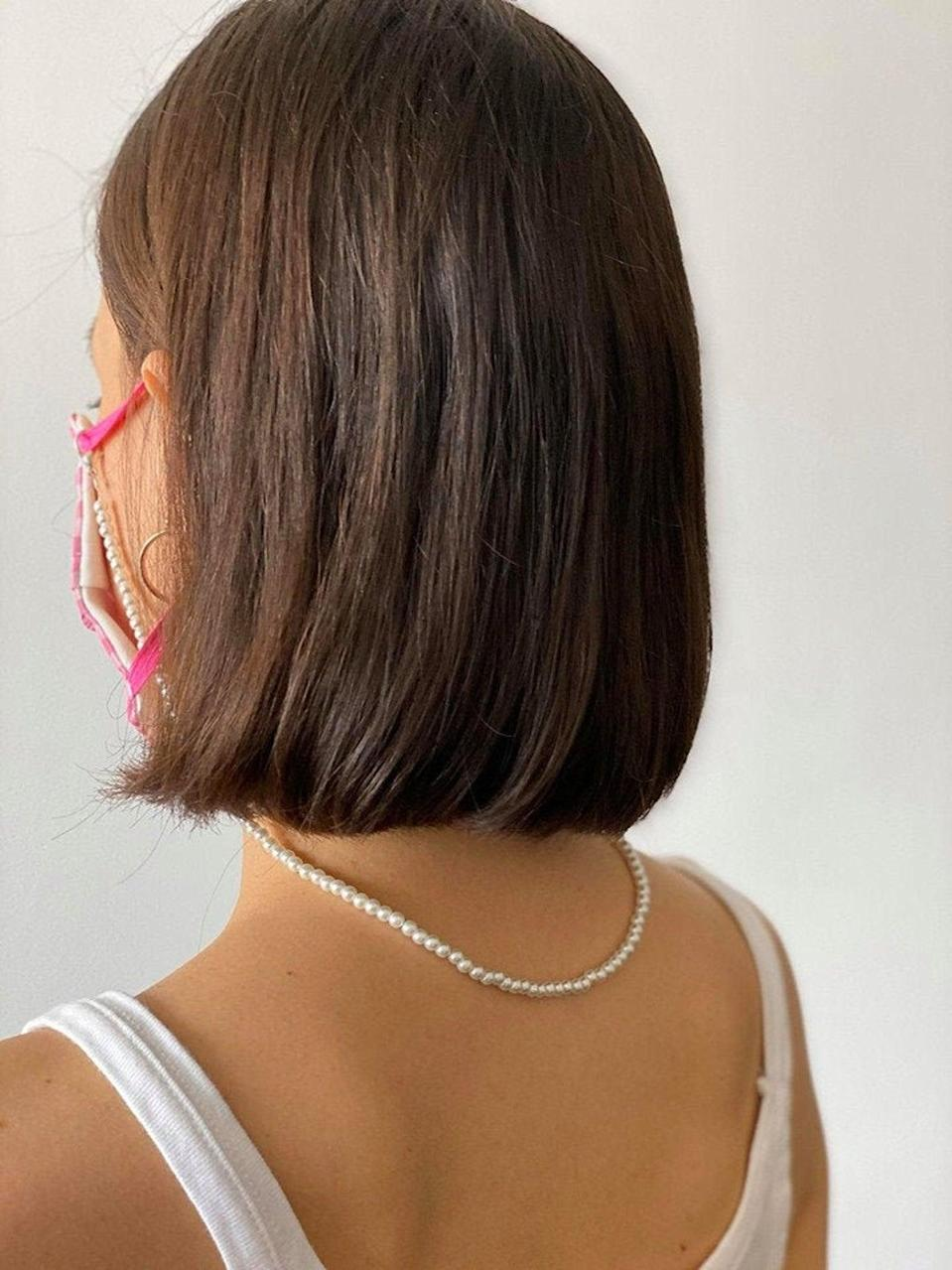 """If you're never not misplacing your own, opt for this pearl face mask chain that will literally be right under your nose at all times. $21, Etsy. <a href=""""https://www.etsy.com/listing/802368801/face-mask-chain-pearl-necklace-mask"""" rel=""""nofollow noopener"""" target=""""_blank"""" data-ylk=""""slk:Get it now!"""" class=""""link rapid-noclick-resp"""">Get it now!</a>"""