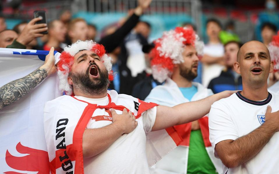 England fans in the stands before the match - Reuters