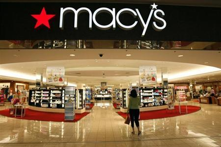 A woman shops at the Macy's store at a mall in a Denver suburb