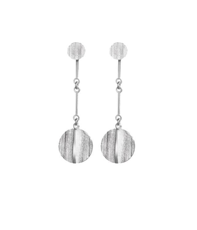 "<p>Lapponia Jewelry silver earrings, $285, <a href=""http://www.lapponia.com/en_en/nile-earrings-sil"" rel=""nofollow noopener"" target=""_blank"" data-ylk=""slk:lapponia.com"" class=""link rapid-noclick-resp"">lapponia.com</a> </p>"