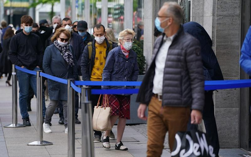 Germany began to lift restrictions at the end of April and has not seen a dramatic rise in new cases - Sean Gallup/Getty Images Europe