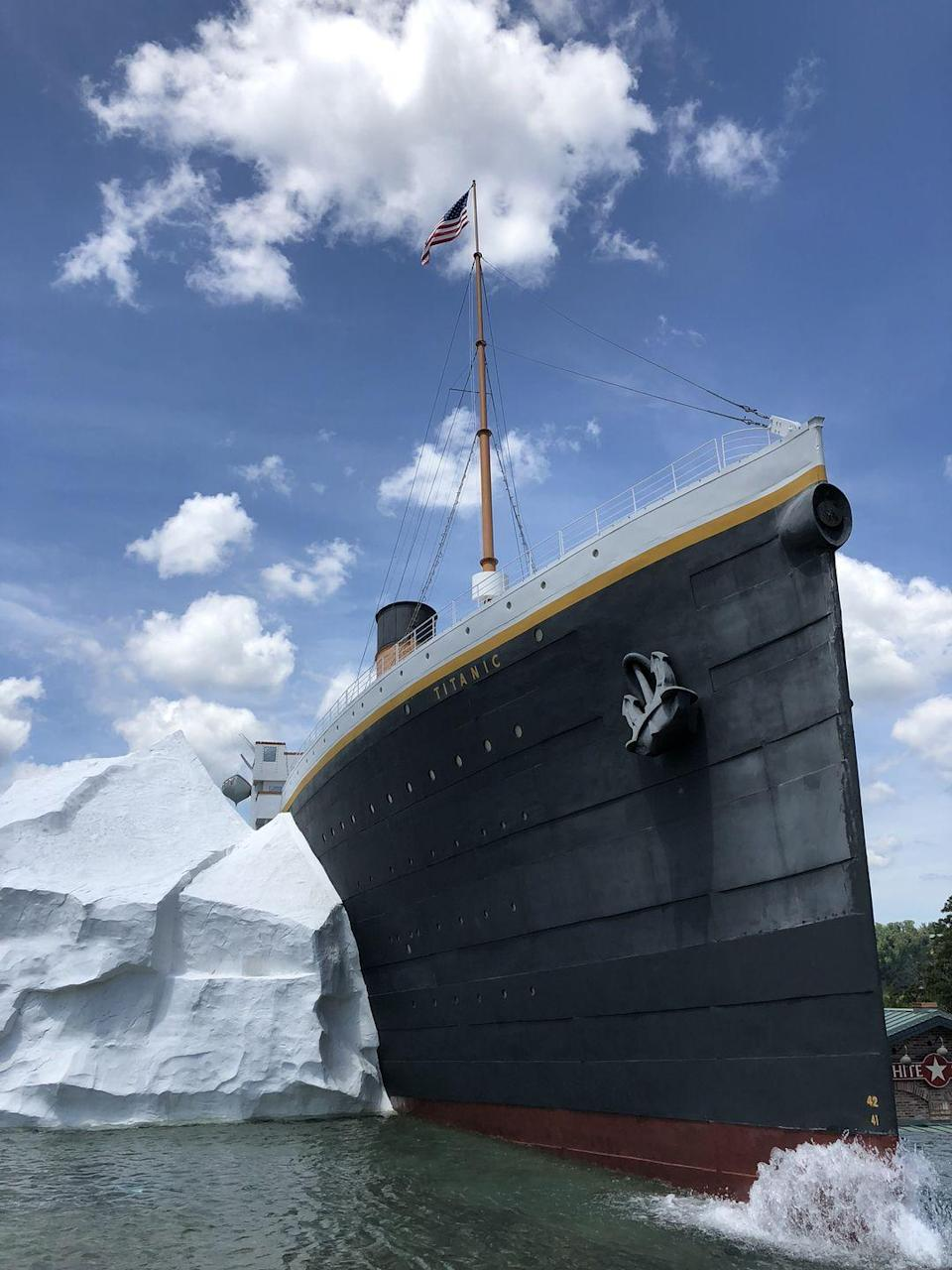 "<p>Pigeon Forge is known as the home to Dollywood, but make sure to visit the <a href=""https://titanicpigeonforge.com/"" rel=""nofollow noopener"" target=""_blank"" data-ylk=""slk:Titanic Museum"" class=""link rapid-noclick-resp"">Titanic Museum</a>. The building is shaped like the front half of the ship (iceberg and all) and inside you'll see be immersed in treasures from the ship, see a replica of the grand stairway, and stick your hand in water the freezing temps of the Northern Atlantic. </p>"