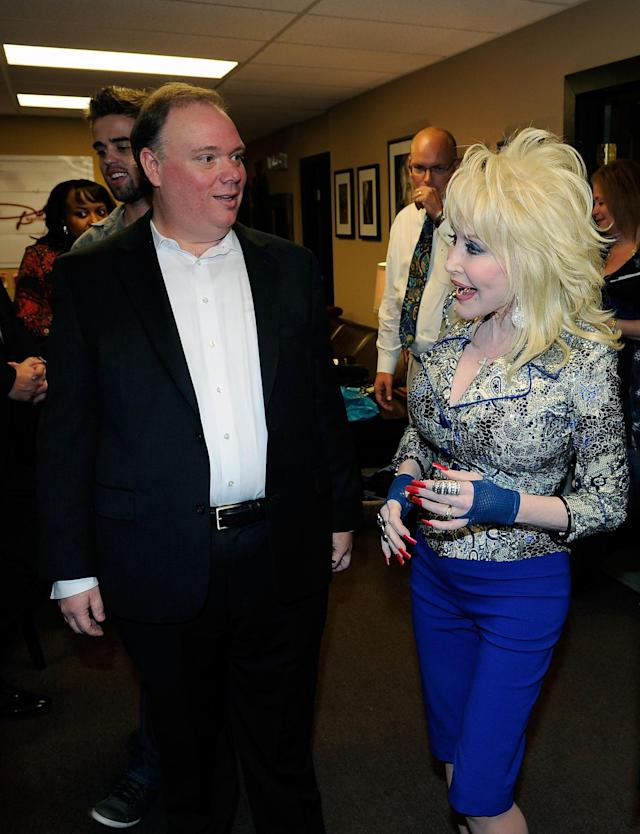 Publicist Kirt Webster and Dolly Parton