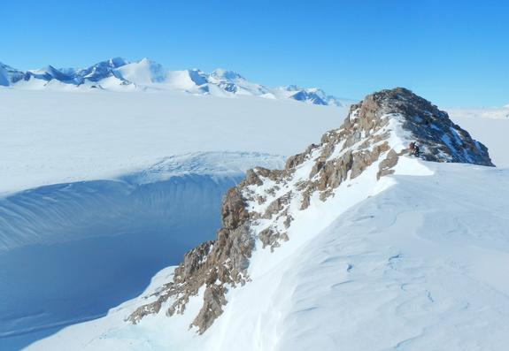 Antarctica's Howard Nunataks, where a seismometer recorded shaking from icequakes.