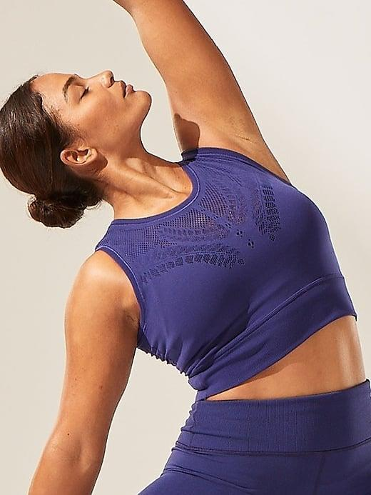 <p>Not only does this <span>Athleta Ujjayi Crop Tank</span> ($24, originally $69) look stylish, but the mesh also lets the cool air in . . . even during hot yoga or intense cardio sessions at home.</p>