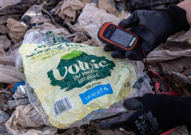 A team of investigators found plastic packaging from UK, German and global food and drinks brands and supermarkets