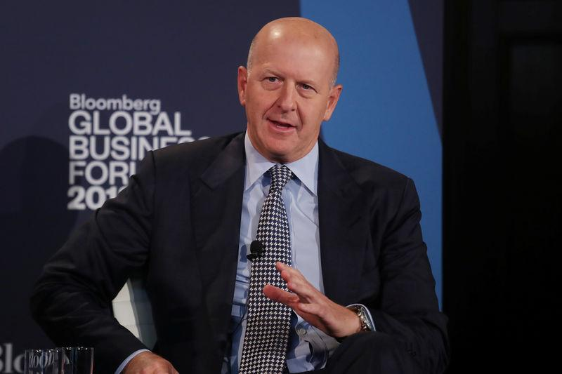 David Solomon, president and chief operating officer of Goldman Sachs, speaks at the Bloomberg Global Business forum in New York