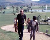 <p>Sean Connery on the golf courses of La Manga del Mar Menor, in October 1973 in Murcia, Spain. </p>