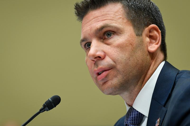 Acting Secretary of Homeland Security Kevin McAleenan testifies before the U.S. House of Representatives committee on Oversight and Reform.