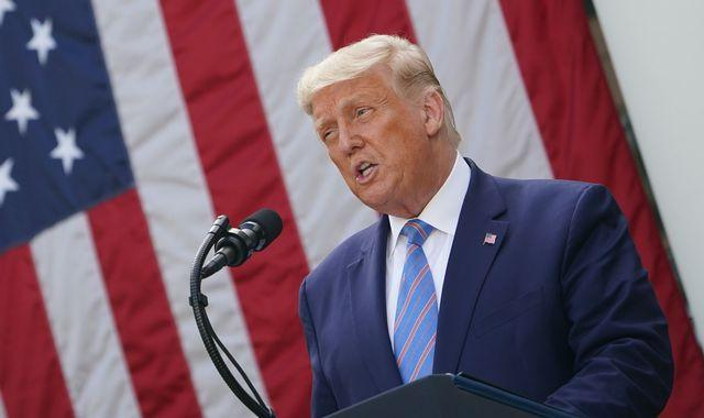 Coronavirus: Donald Trump announces rollout of new rapid COVID-19 tests - but avoids questions on his taxes