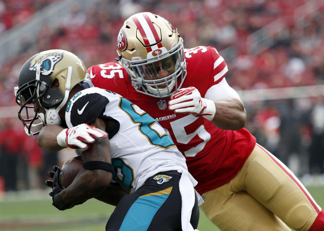 "Eric Reid, 26, told Yahoo Sports: ""I think my best football is in front of me."" (AP Photo/Tony Avelar)"