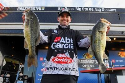 Keith Carson of DeBary, Fla., has won the Basspro.com Bassmaster Eastern Open at Lay Lake with a three-day total of 47 pounds, 1 ounce.