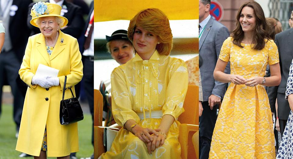 The royals have worn an array of yellow hues over the years [Photos: Getty]