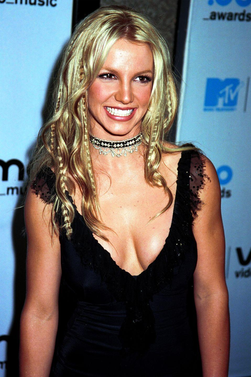 <p>Unlike the insanity that was crimped hair in the '90s, where people would sport an entire head of crimped hair, the trend in the 2000s was just a few select crimped pieces. Britney Spears at the MTV VMAs was the ultimate goal. </p>